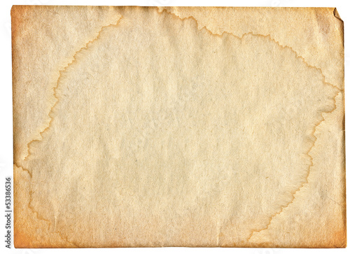 piece of stained paper