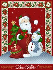 Papai Noel Boas Festas