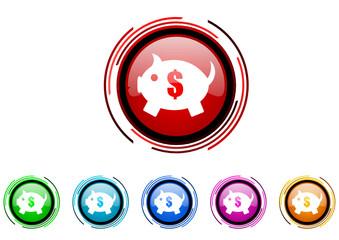 start vector glossy web icon set