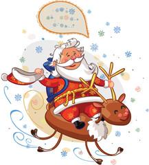 santa on deer