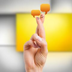 sprechende Finger