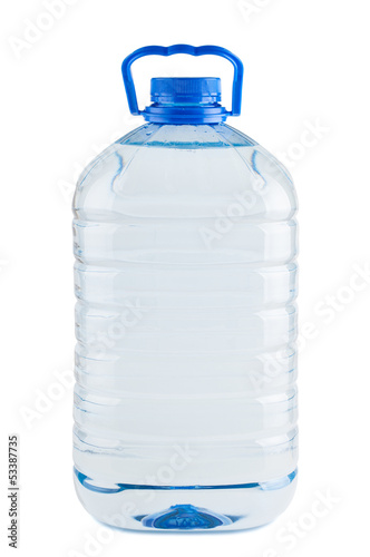 Big plastic bottle of fresh water