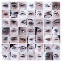 Collage of different eyes