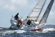 Leinwanddruck Bild - skipper sur son yacht de sport