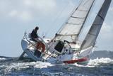 Fototapety skipper sur son yacht de sport