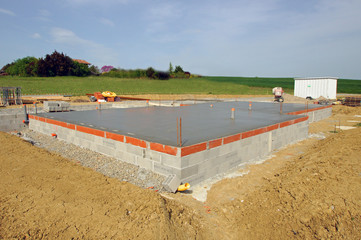 construction maison - dalle béton  # czm