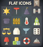 Universal Flat Icons for Web and Mobile Applications Set 14