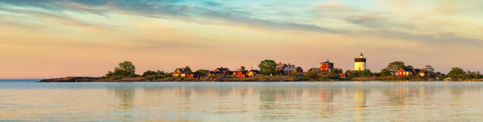 Lighthouse in Swedish archipelago - Panorama