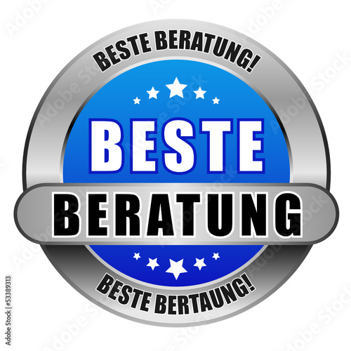 5 Star Button blau hell BESTE BERATUNG DTO DTO