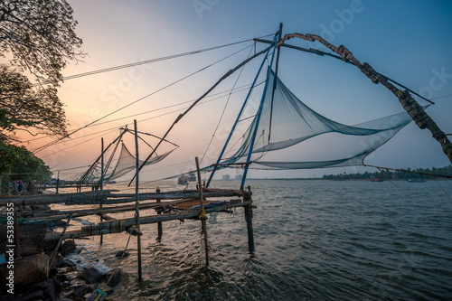Chinese fishing nets, Kochi, India