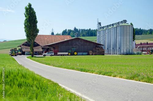 canvas print picture moderner Landwirtschaftsbetrieb