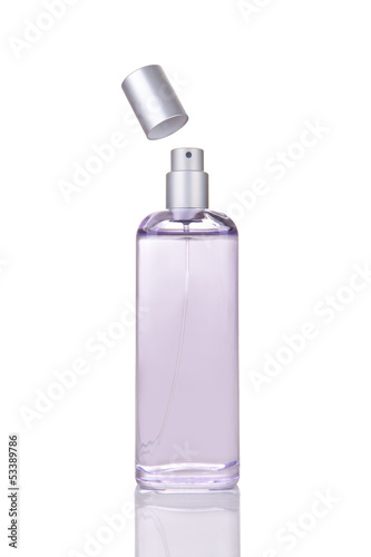 Elegant female perfume isolated on white