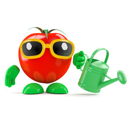 Tomato grows his own food