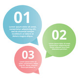 modern glossy option speech bubbles