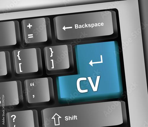 """Keyboard Illustration """"CV"""""""