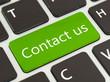 Keyboard - green key contact Us