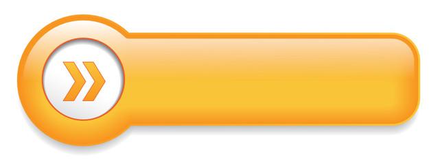 Orange Web Button (sign badge icon symbol blank template vector)