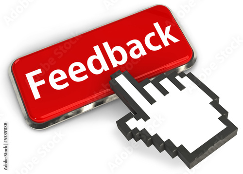 Feedback button and hand cursor