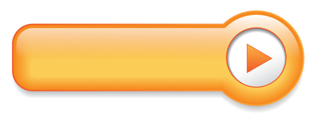 Orange Web Button (sign badge icon symbol blank template vector)