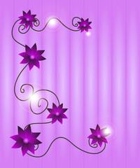 sfondo floreale sui toni del viola