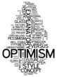 "Word Cloud ""Optimism"""