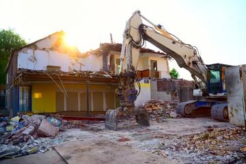 Construction site demolition
