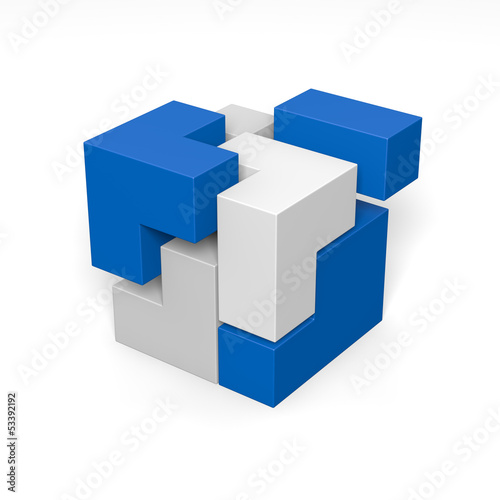 Modulares System: 3D-Illustration