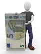 presenting five euro bill
