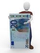 presenting twenty euro bill