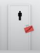 toilet for men accupied