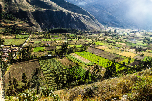 Ollantaytambo-old Inca fortress and town,Sacred Valley,Peru