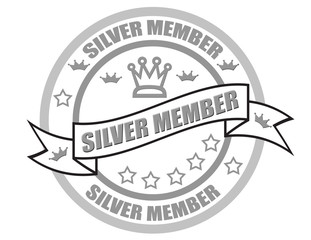 Silver member -stamp