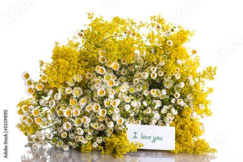 Summer bouquet of wild flowers