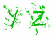 Y and z painted green
