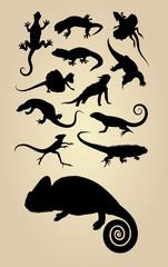 Reptilian Silhouettes