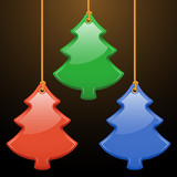 Coloured fir toys