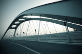 Steel structure bridge night scene © Aania