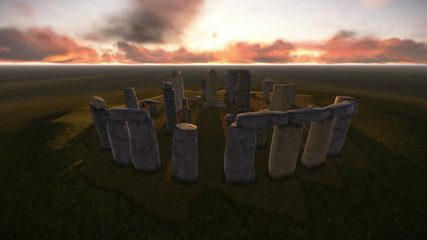 The Stonehenge.