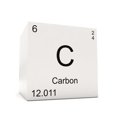Cube of Carbon - element of the periodic table