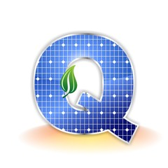 Solar Panel - alphabet letter Q