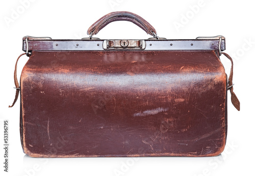 Brown vintage valise