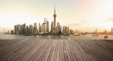 Shanghai bund landmark skyline urban buildings landscape - Fine Art prints