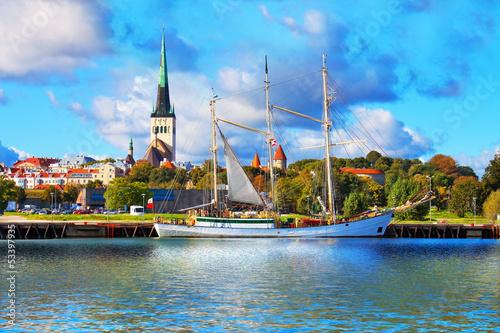 Aluminium Panorama of Tallinn, Estonia