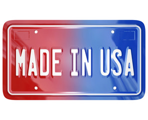 Made in the USA License Vanity Plate Car