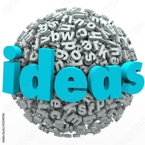 Ideas Letter Ball Sphere Creativity Imagination