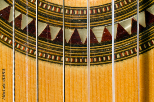 Closeup of a Classical Guitar