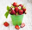 Full bucket of strawberry
