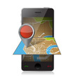 smart phone navigation. mobile gaps illustration