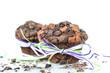 Schokomuffins mit Dekoschleife