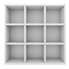 3d white shelf
